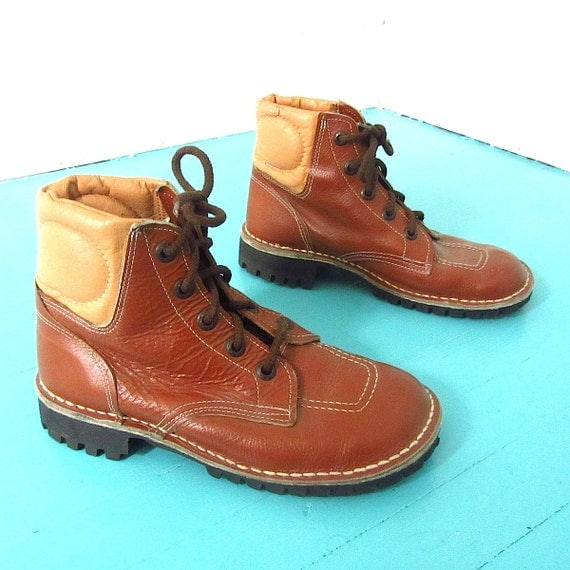 buster brown leather work boots womens 8 by welcomehomevintage