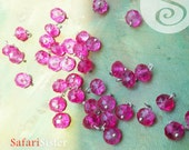 NEW 10 GEMDrops Fushia Austrian Crystals Sterling Silver Fill Wrapped Beads, Jewelry Findings, Jewelry Making Supplies