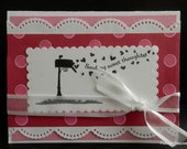 Valentine Greeting Card Red and Pink