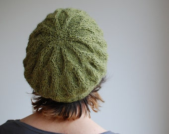 Blackfiars Cabled Beret Hat - knitting pattern / instructions by Katya Frankel