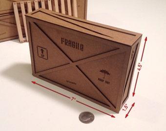 Miniature shipping crate kit (Thin)