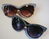 Crystal Baby Cat Eye Sunglasses Accessory by Cutie Dynamite Sunnies Cute Kawaii Lolita Retro - CutieDynamite