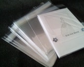 50 Self Sealing A2 Size Greeting card protective SLEEVES cell clear bag cellophane 5 7/8 x 4 1/2 inches
