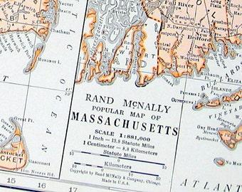 Vintage Michigan Map Etsy - Michigan on us map