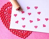 Heart ButtonRubber Stamp