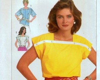 Sewing Pattern Simplicity 7483 Misses' Tops Easy to Sew  Size 6-8-10 Bust 30-31-32 inches Uncut Complete