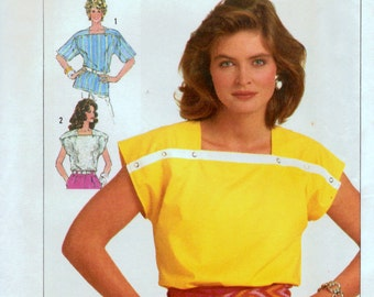 Sewing Pattern Simplicity 7474 Misses' Tops Time Saver  Size 10-12-14 Bust 32-34-36 inches Uncut Complete