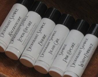 Vegan Deodorant Samples - 6pc