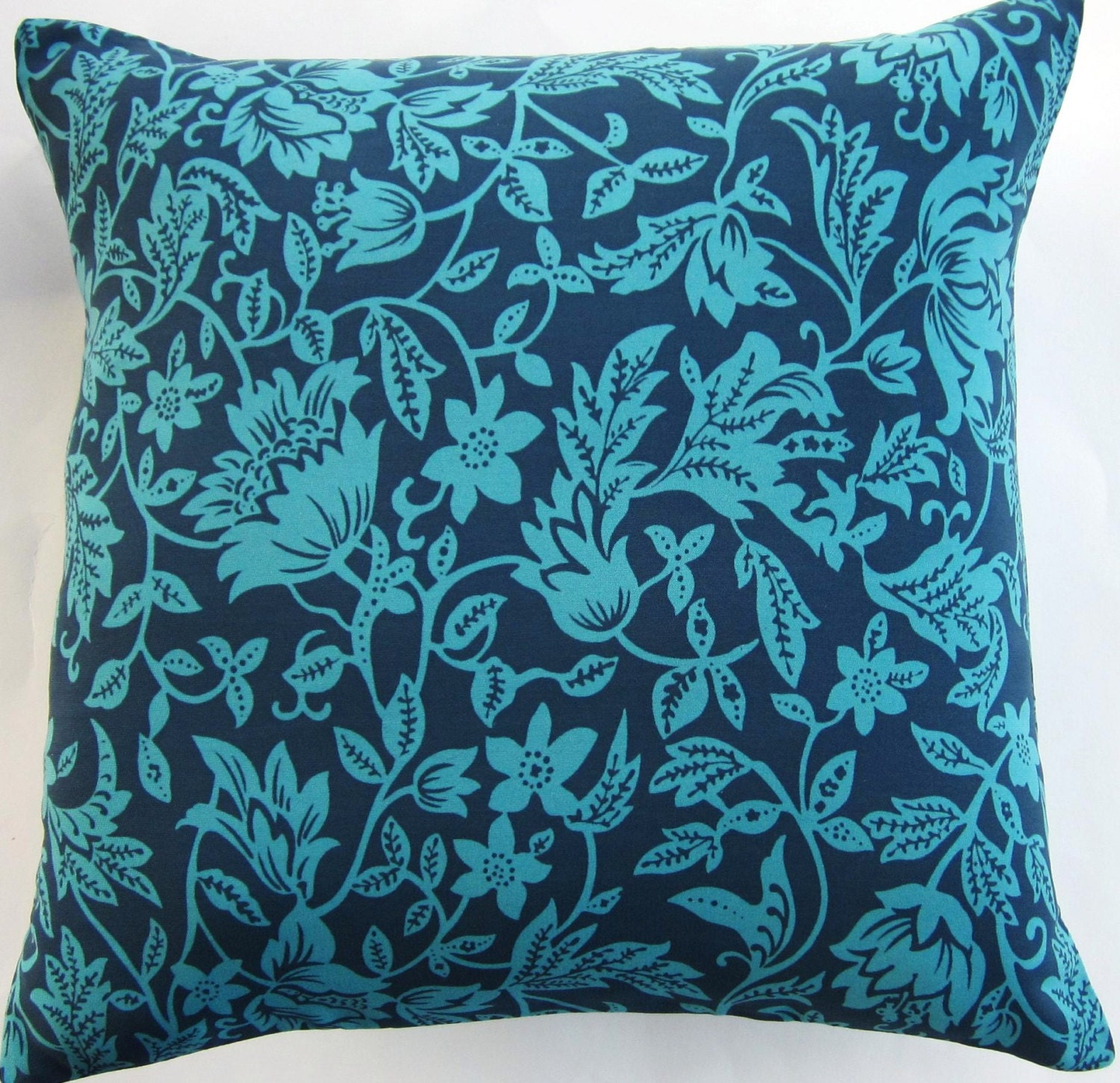 Teal Blue Throw Pillow Covers : Blue and Teal Throw Pillow Cover Navy Blue and Turquoise