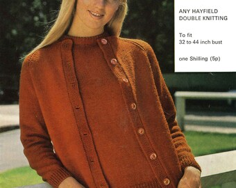 Vintage Ladies Twin Set, Knitting Pattern, 1960 (PDF) Pattern, Hayfield 719