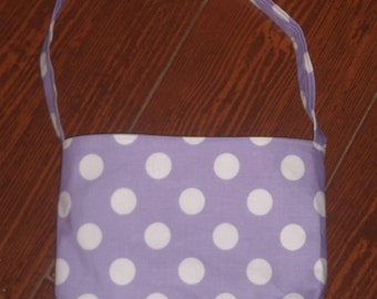 Purple dot toddler purse
