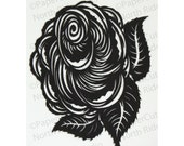Rose Papercut ACEO, Handcut Original