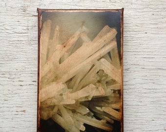 Rock quartz crystal photo C - Wall Art