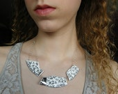 RESERVED for Ally Sterling Silver and Broken Plate Necklace and custom Antler Necklace