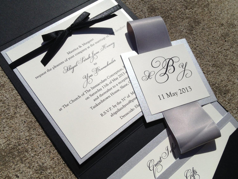 Cheap Plain Wedding Invitations: Square Pocket Wedding Invitations Classic Or By