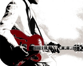 "Chuck Berry ""Hail, Hail"" Screen Printed Art Print 2013"
