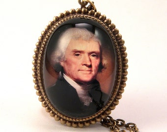 Thomas Jefferson A founding Father Historic Deluxe Necklace