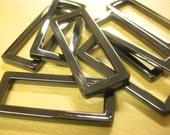 6 pcs ( half dz ) 1 1/2 flat rectangular gunmetal antique brass gold plated Metal Square Ring for bag purse Valued 15.00