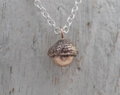 Bronze acorn necklace
