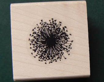P5 Dandelion rubber stamp WM small