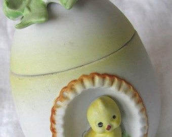SALE Vintage Lefton Porcelain Egg With Chick Was 12.00 Now 9.99