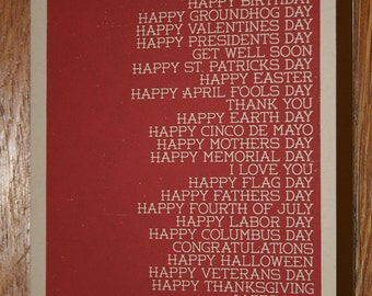 The Greeting Card For Every Holiday - Red