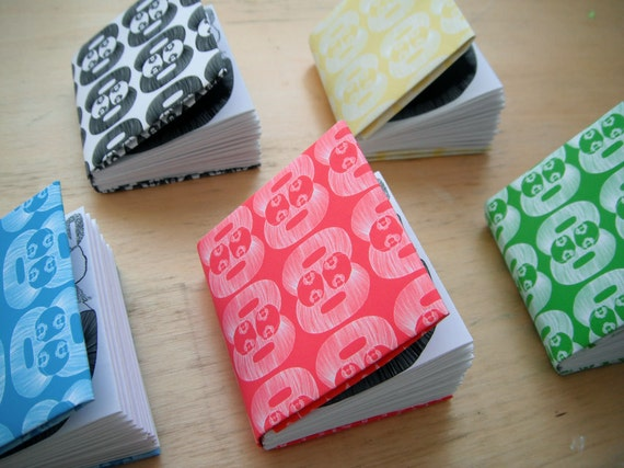Miniature origami artists book of drawings by Lucy Cheung
