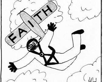 faith and free falling PRINT