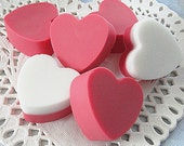 Sensual Creamy  LOVE Hearts--Mini----6---Valentine , Mother's Day, Birthday or Just To Say I Love You.