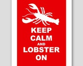 Keep Calm and LOBSTER On, 5x7 Card