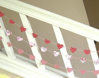 Love Sentiments Heart Garland - 3 yards -  Valentine/Wedding Decor