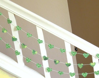 I Heart The Irish Garland - 3 yards - St. Patrick's Day Garland - Home Decor