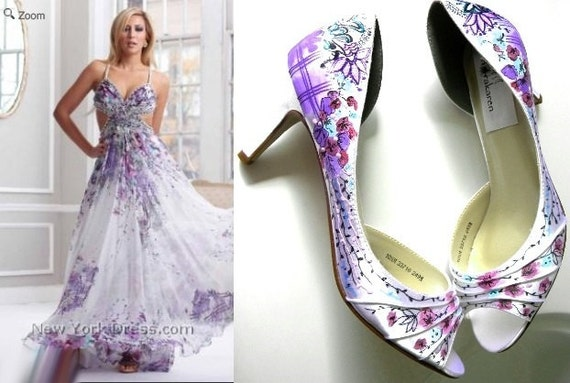 items similar to design your own shoes floral wedding