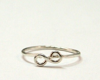 Dainty Infinity Knuckle Ring - Sterling Silver Above the Knuckle Ring - Midi Eternity Symbol