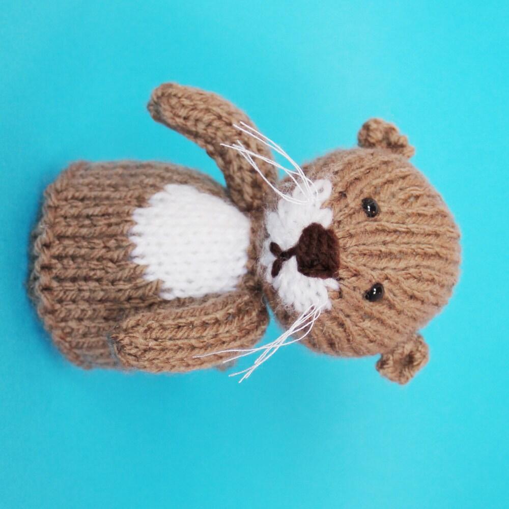 Yoda Amigurumi Pattern Free : Otter Toy Knitting Pattern PDF