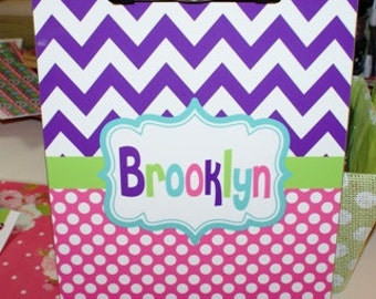 personalized clipboard, monogrammed clipboard, chevron clipboard, polka dot clipboard,