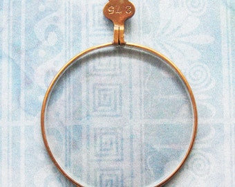 Monocle Optical Lens Gold Bronze Eye Spy Glass Pendant Lens Antique Victorian Diy Relic Jewelry Steampunk Finding