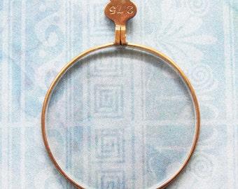 Monocle Optical Lens Gold Bronze Eye Spy Glass Pendant Antique Victorian Diy Relic Jewelry Steampunk Costume Prop