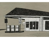 13 x 19 Print of Original Illustration - New Hill Country Store