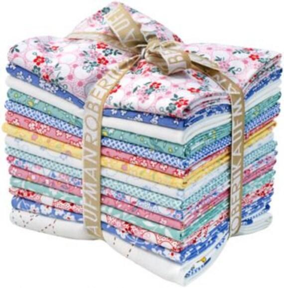 Darlene Zimmerman Lazy Daisy Baskets Fat Quarters 14 Precut Cotton Fabric Quilting FQs Robert Kaufman FQ-690-15