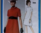 1060's Vogue Americana  Bill Blass  Misses Dress 2056 Pattern, Size 8, Bust 31 1/2,