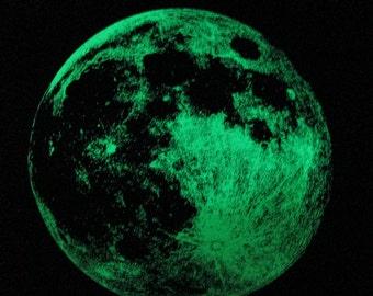 Glow in the Dark Full Moon Ladies Tee S M L or XL