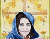 """Bee Mother'  12"""" x 8"""" fantasy print by Danielle Barlow"""