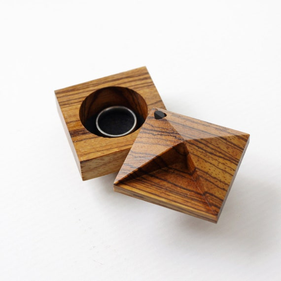 exotic zebrawood pixie modern engagement box by ohdierliving