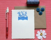 Lovebirds Thank You - letterpress (set of 6)