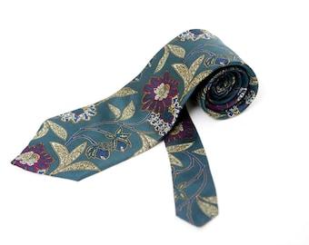 Men's Necktie / Vintage Floral Exectutive Tie