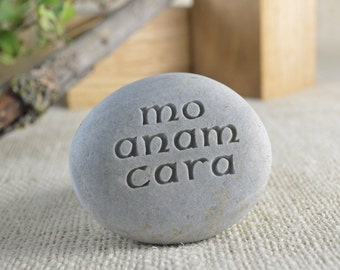 Mo anam cara or Anam cara - best friend gift - Ready to ship Engraved Stone
