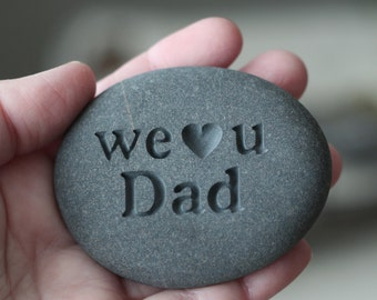Engraved stone for dad, grandpa... - exclusive design by sjengraving