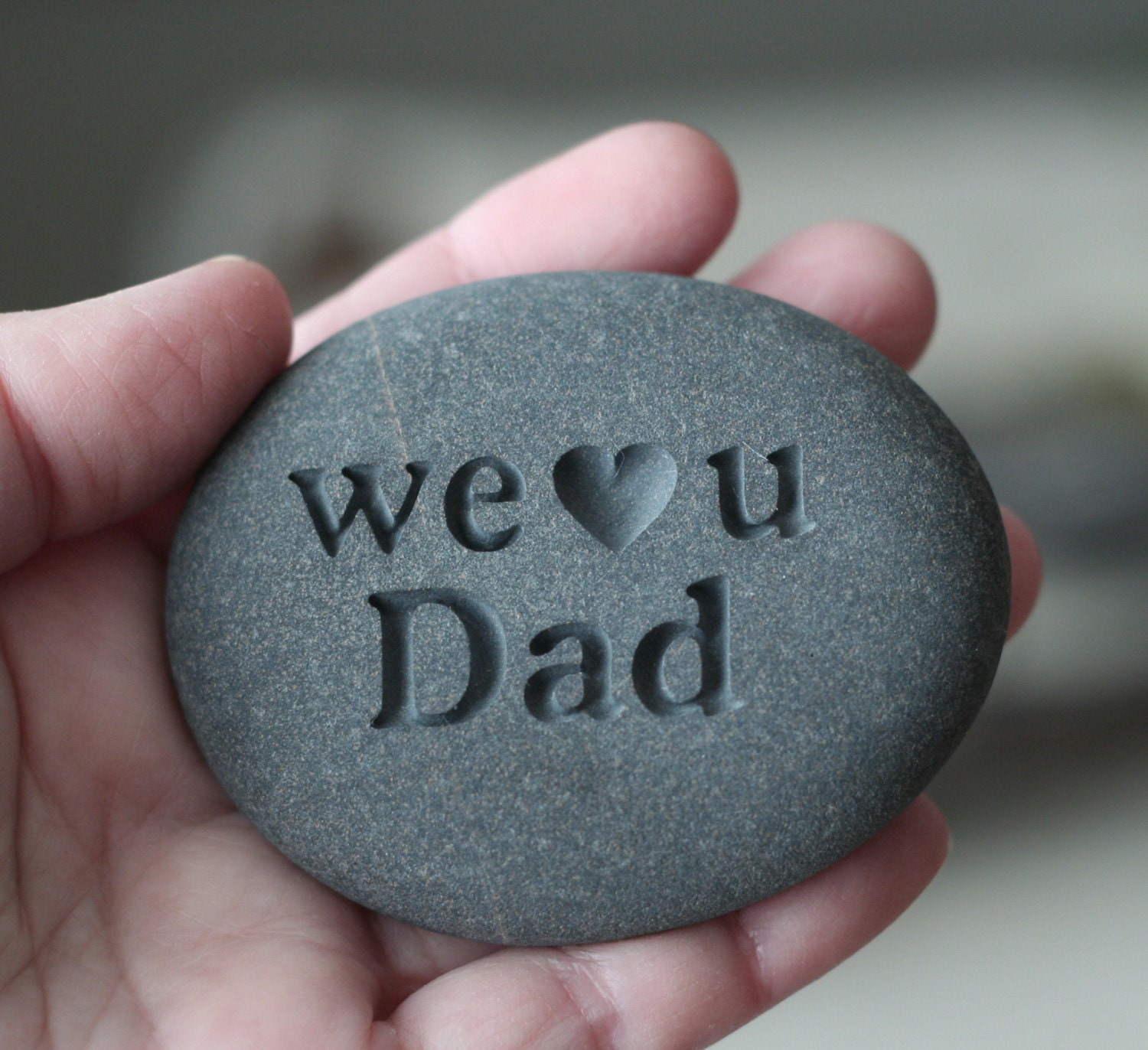 engraved stone for dad grandpa exclusive design by. Black Bedroom Furniture Sets. Home Design Ideas