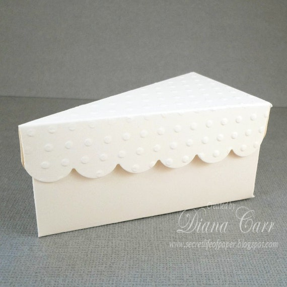 wedding cake slice box items similar to favor box ivory wedding favor box 24905